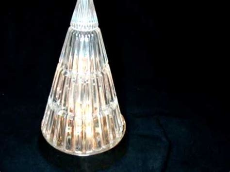 glass light up christmas tree vintage avon crystal glass twinkling lights christmas tree