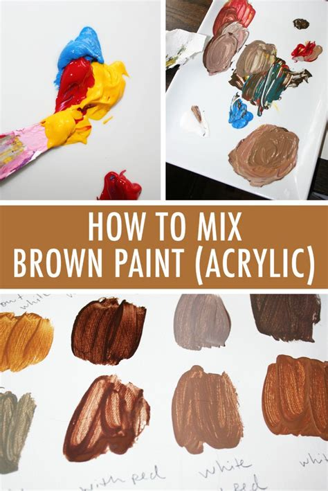best 25 acrylic colors ideas on mixing paint