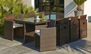 Salon De Jardin 12 Personnes : salon de jardin 8 fauteuils encastrables en rsine tresse ~ Dailycaller-alerts.com Idées de Décoration