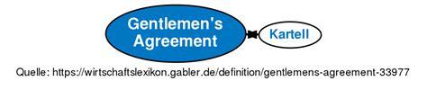 gentlemens agreement definition gabler wirtschaftslexikon