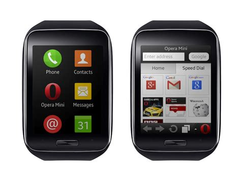 tizen samsung gear s brings the opera mini browser to your wrist iot gadgets