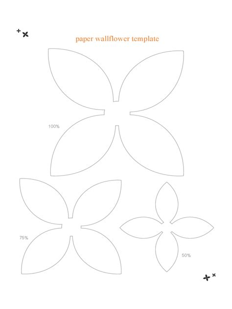 paper flower templates pdf flower template 7 free templates in pdf word excel