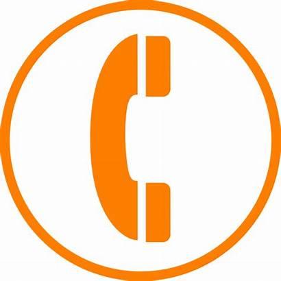 Phone Telephone Clipart Orange Call Transparent Clip
