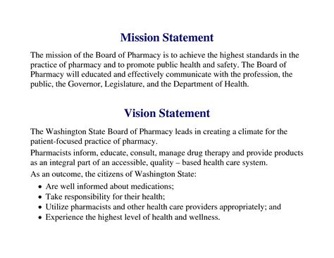 Mission Statement Template Vision Statement Exles For Business Yahoo Image