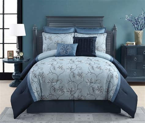 8 piece embroidered comforter set ophelia