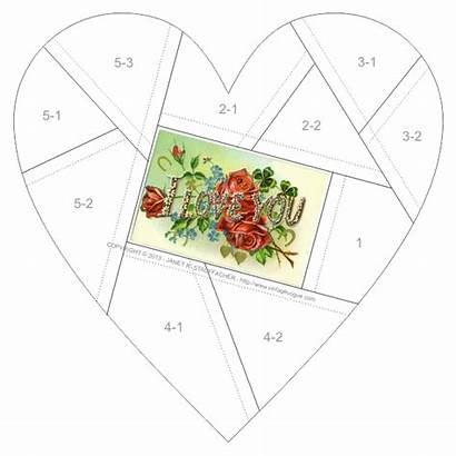 Quilt Crazy Block Patterns Quilting Blocks Heart