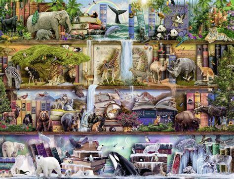 wild kingdom shelves  piece jigsaw puzzle ravensburger