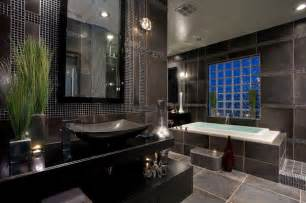 contemporary black and gray master bathroom contemporary bathroom by chris - Grey And Black Bathroom Ideas