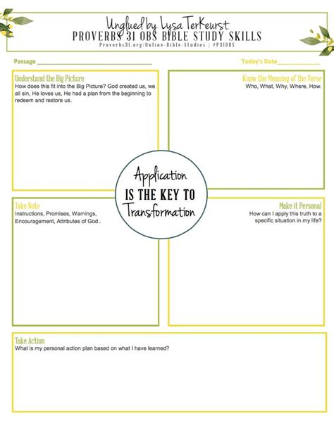 Free Worksheet For Your Bible Study 5 Ways To Apply Truths In Scripture  Bible Study Skills