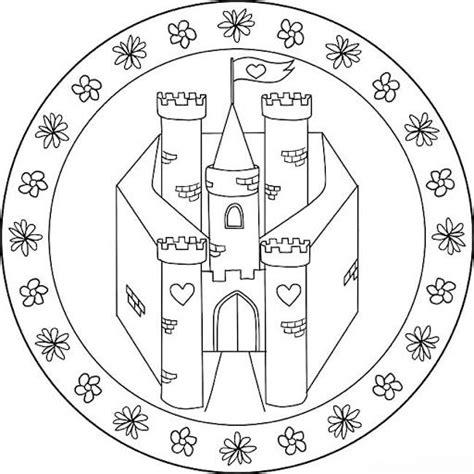 Kleurplaat Kasteel Prinses by Mandala Kasteel Ridders Jonkvrouwen Kleurplaten