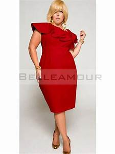 robe de soiree grande taille courte rouge satin With robe rouge grande taille