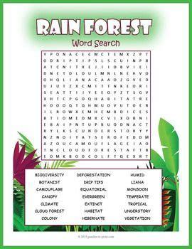 tropical rainforest word search puzzle best puzzles