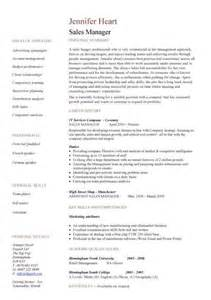 manager resume sles sales manager cv exle free cv template sales management sales manager resume