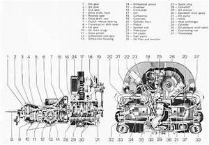 Vw Beetle Engine Blueprint - 3d Cad Model