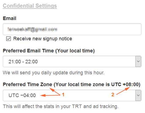 adjustable time zone trt ad tracking cloaking option leadsleap