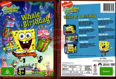 Spongebob Squarepants Whale Of A Birthday New Seal Dvd