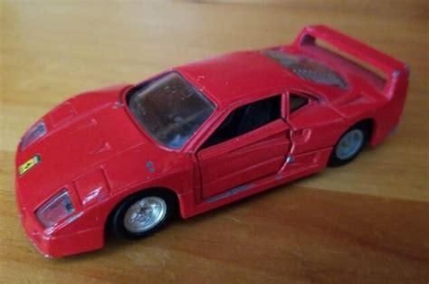 Kyosho 1/64 ferrari f40 competizione yellow diecast car model. Red Ferrari F40 Diecast Toy Car 1:39 Scale (MC Toy)   eBay