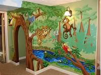trending jungle wall mural Animal Themed Children's Bedrooms Jungle And Wild Design - HomesCorner.Com