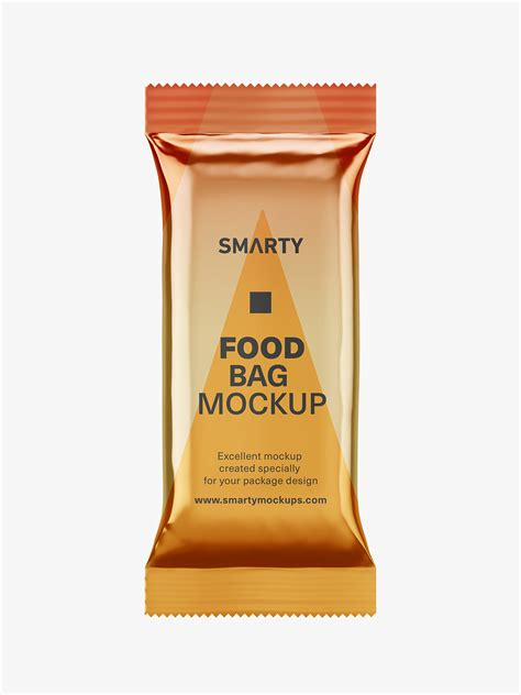 12 3.6 page 1 of 6. Food pouch mockup / metallic - Smarty Mockups