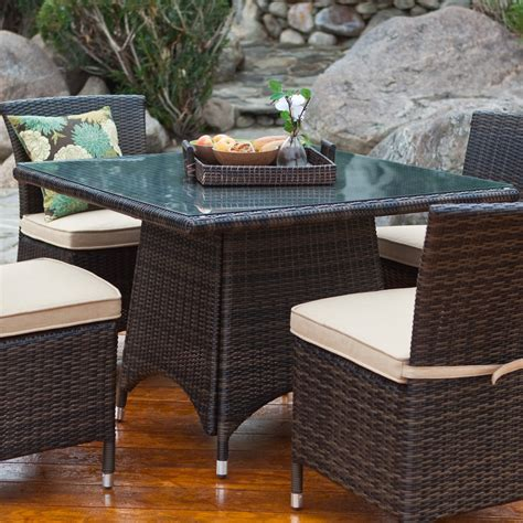 coral coast dublin  weather wicker dining table patio