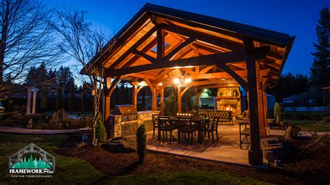 Mt. Hood Timber Frame Pavilion   Boring, OR   Framework Plus