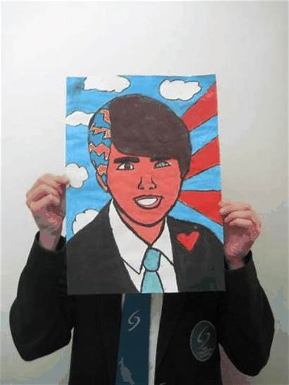 Portraits Self Pop Portrait Student Students Drawing