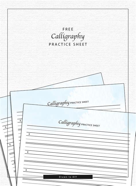 calligraphy practice sheet scrap booking