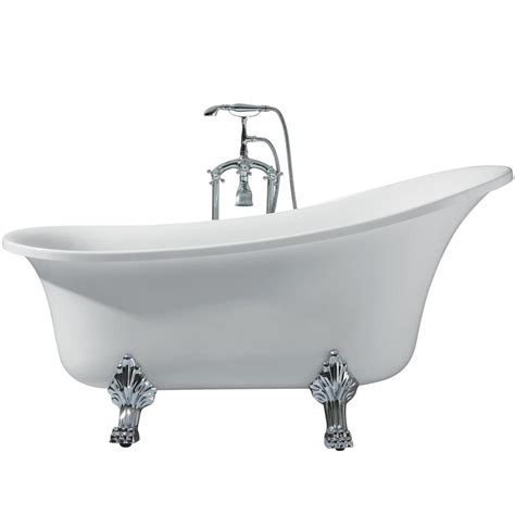 Freestanding Tub Right Drain by Ariel 63 In Acrylic Right Drain Oval Claw Foot