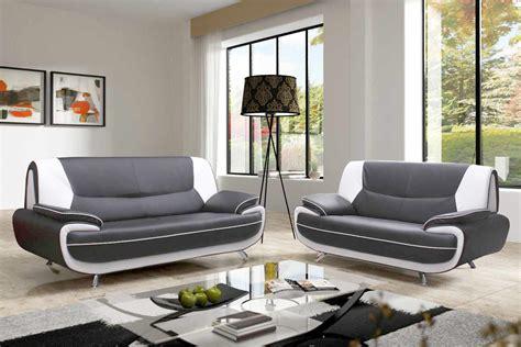 canapé blanc simili cuir pas cher canape cuir blanc et gris 28 images canap 233 d angle