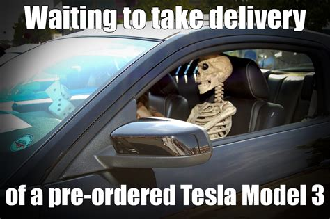 Meme Model - waiting to take delivery of a pre ordered tesla model 3