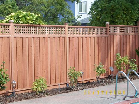 style fencing redwood fence with lattice top backyard pinterest backyard fence styles and yards