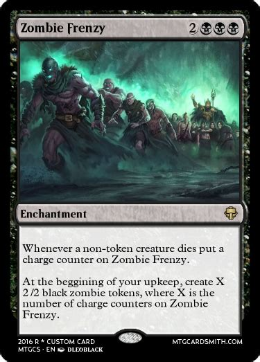 Zombie Frenzy By Redcheese  Mtg Cardsmith