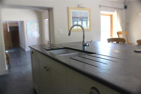 photographs  slate kitchen worktops work surfaces sink