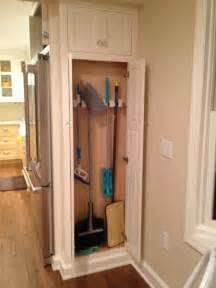 broom cabinet next to fridge our pantry which is 14 quot