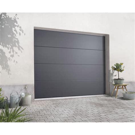 porte garage sectionnelle leroy merlin porte de garage sectionelle excellence acier gris rainur 233 e 200 x 240cm leroy merlin