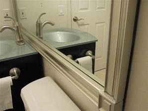 Framing bathroom mirrors with crown molding 28 images for Molding around mirror bathroom