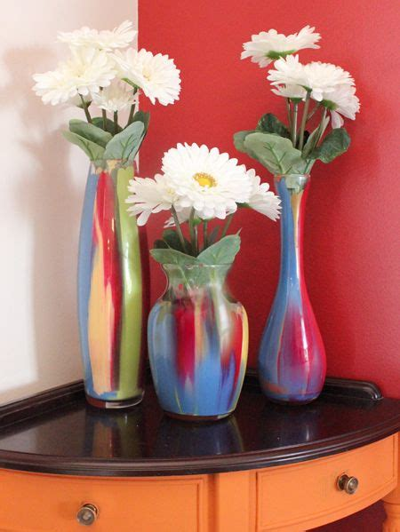 Where Can I Buy Cheap Vases by Easy Painted Glass Vases Diy Painted Glass