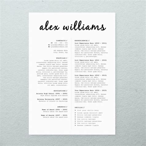 Instant Resume Templates by Business Infographic Cv Design Cover Letter Printable