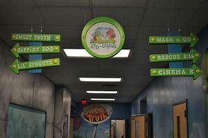children's ministry decor- hanging directional signs ...