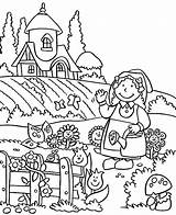 Coloring Gardening Spring Fairy Lovely Tools Drawing Welcome Printable Preschool Colouring Flower Bestcoloringpagesforkids Sheets Getdrawings Getcolorings Adults Colorings sketch template