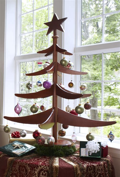 free alternatives to a christmas tree wooden alternatives to green up your tree