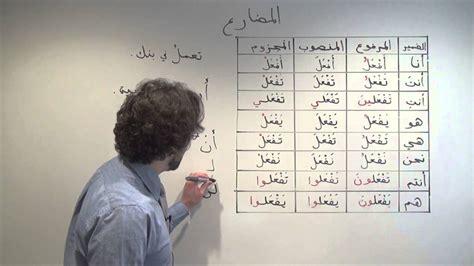 arabic grammar variant present tense verb forms