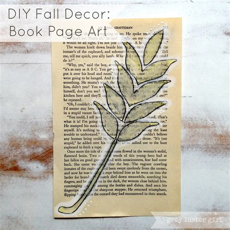 Diy Home Decor Books by Diy Fall Decor Book Page Tutorial