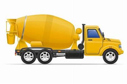 Mixer Concrete Truck Vector Cargo Illustration Cement
