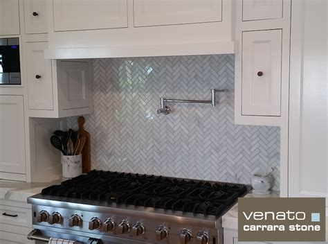 Home Depot Glass Tile by Carrara Venato 1x3 Quot Herringbone Polished Marble Mosaic Tile