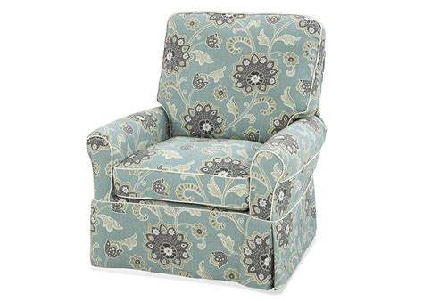 Custom Slipcovered Swivel Glider Chair Trimble