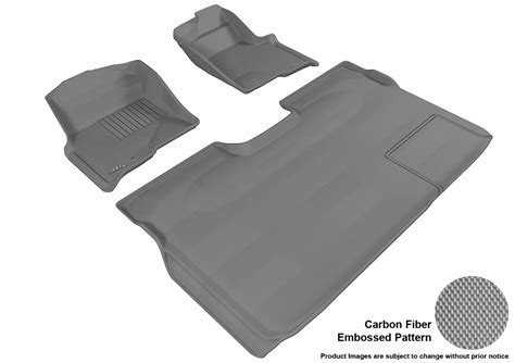 Maxpider Floor Mats Focus St by Maxpider Ford F 150 09 14 Supercrew Kagu Gray 1st 2nd Row