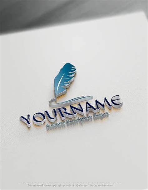 design  logo create   feather ink  logo