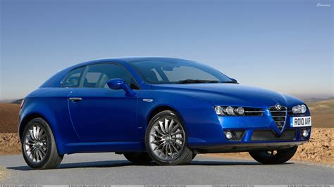 2010 Alfa Romeo Brera In Blue Side Front Pose Wallpaper