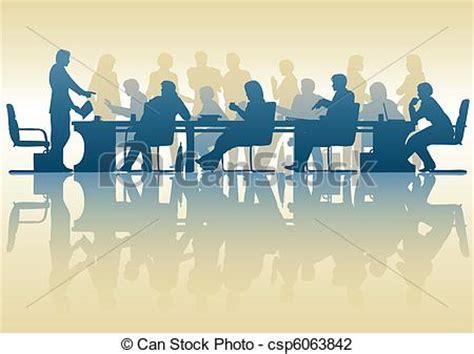 15112 international business meeting clipart vector illustration of business meeting editable vector